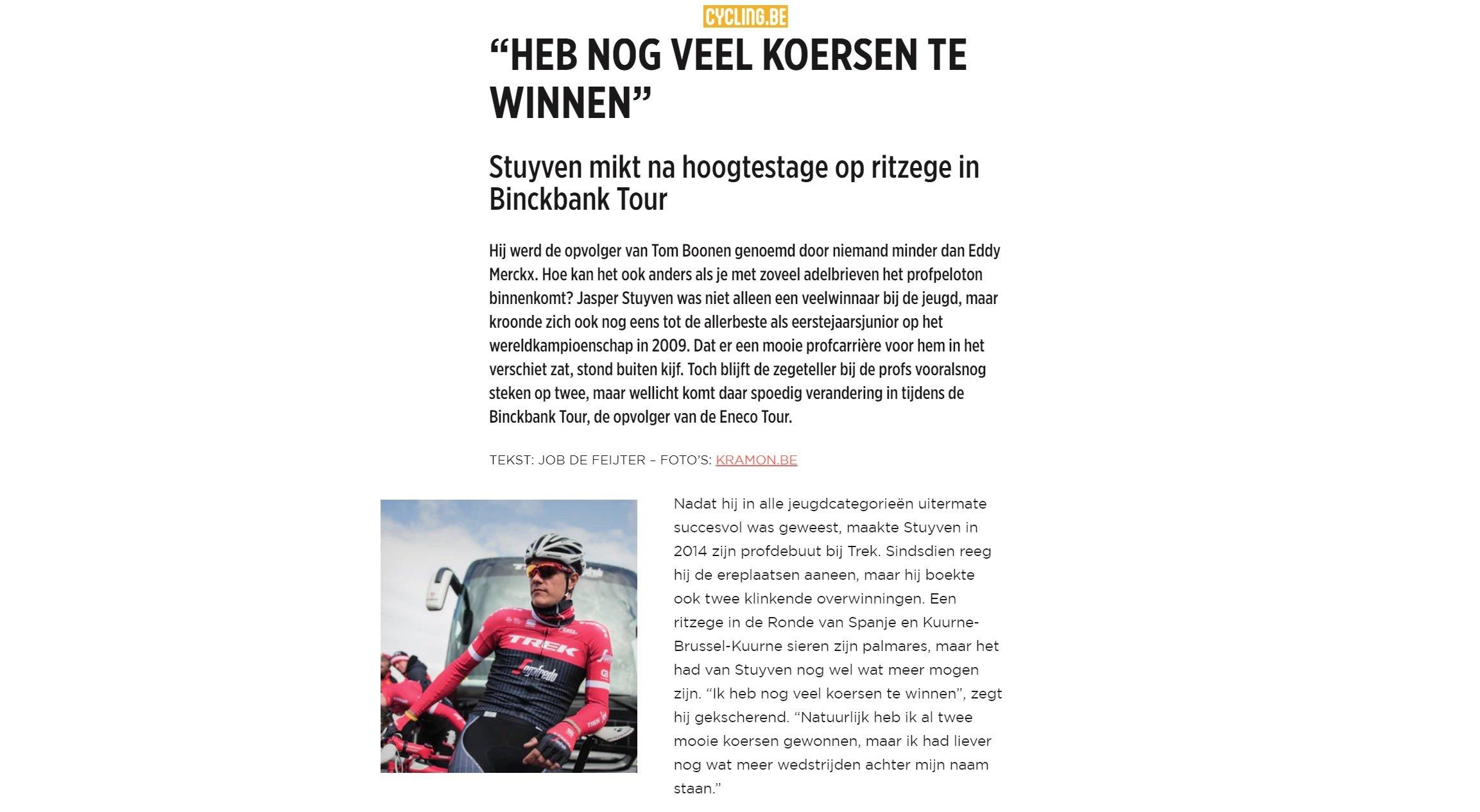 Copywriting Cycling.be