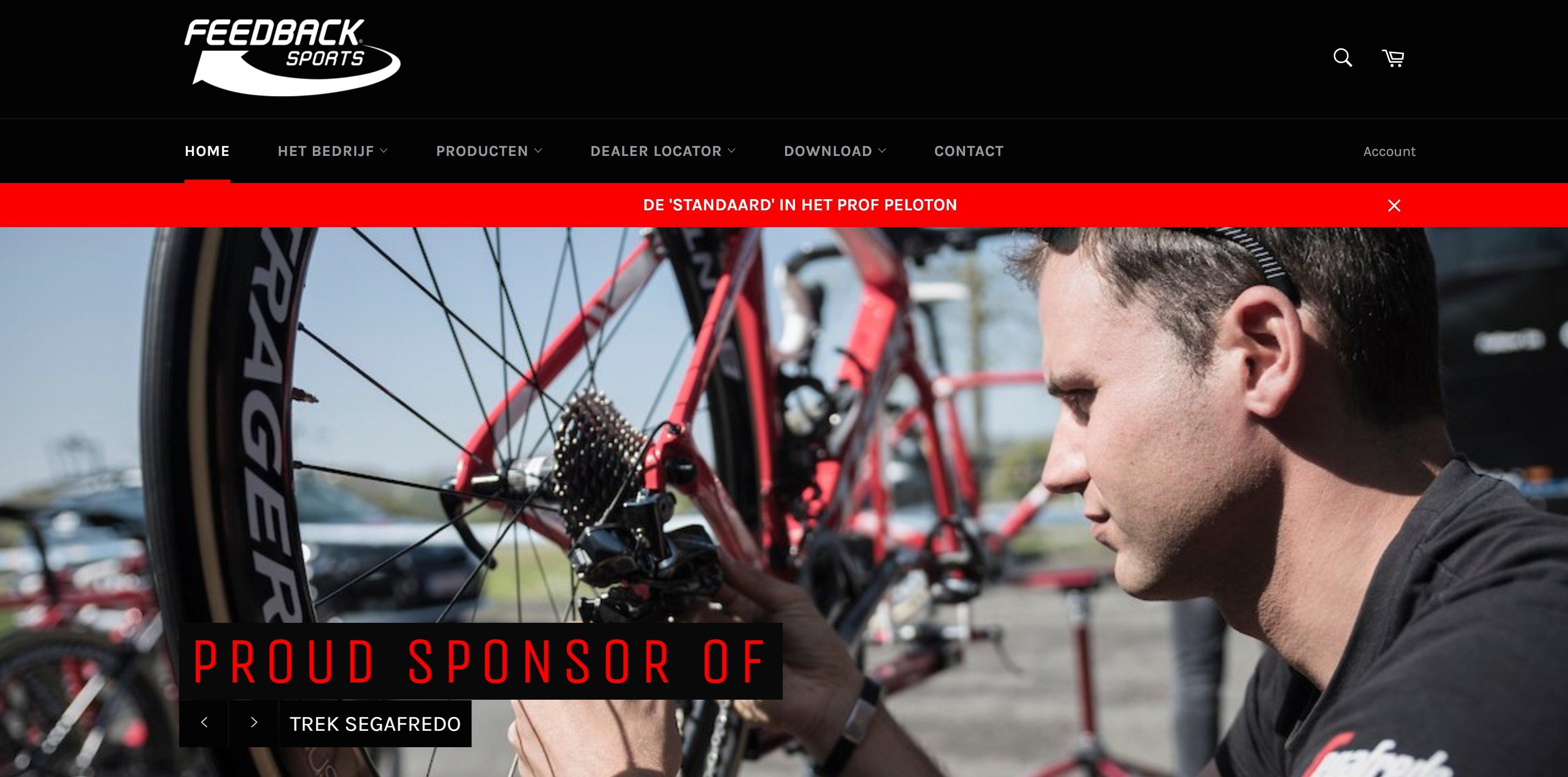 Maintenance Feedback Sports website