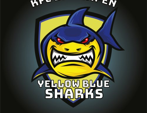 Logo Yellow Blue Sharks