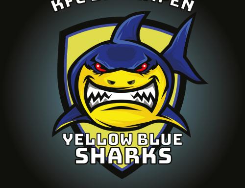 Logo Yellow Blue Sharks